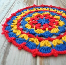 Three Free Mandala Patterns made with Deramores Studio Anti