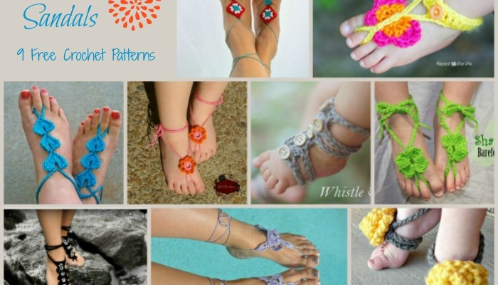 Barefoot Sandals Pattern Compilation