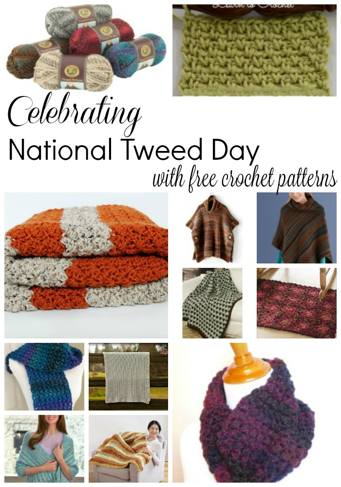 Celebrating National Tweed Day with FREE crochet patterns