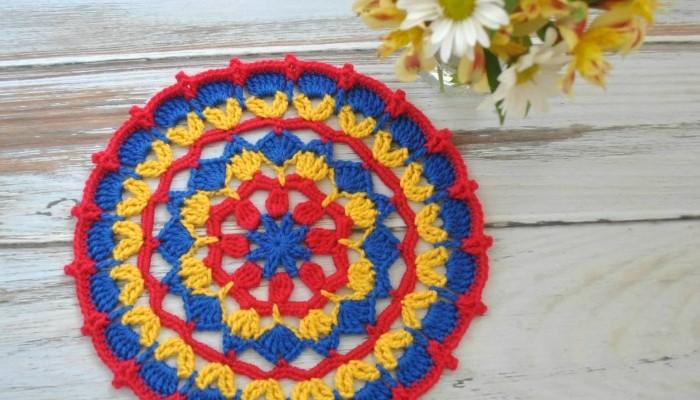 Free Mandala Pattern 2 with Deramores Studio Anti-Pilling Dk Yarn