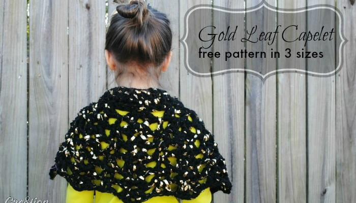 Gold Leaf Capelet free child's cape pattern