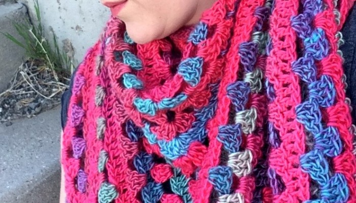 Granny Stitch Triangle Free Crochet Scarf Pattern