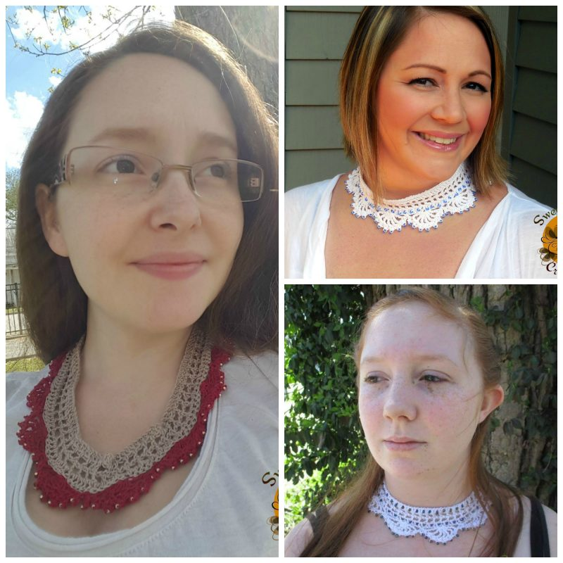 THREAD NECKLACE FREE CROCHET PATTERN