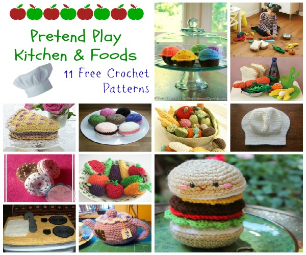 Pretend Play Kitchen And Foods Cre8tion Crochet