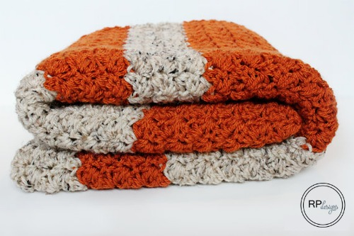 PumpkinTweed blanket by Rescued Paw Designs