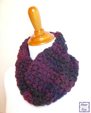 Purple Tweedy Berries Cowl by Fiber Flux
