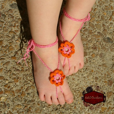Ring of Petals Barefoot Sandals