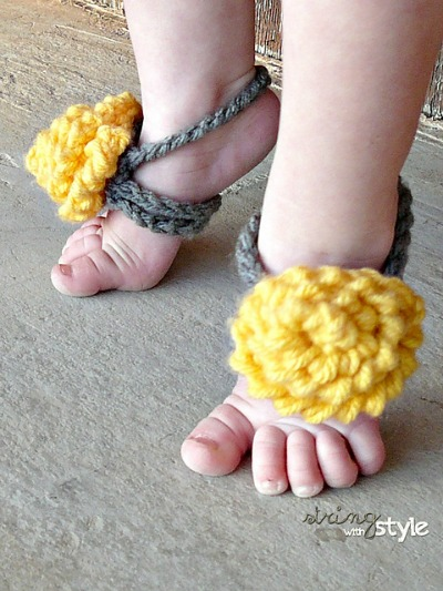 Pretty Baby Barefoot Sandals