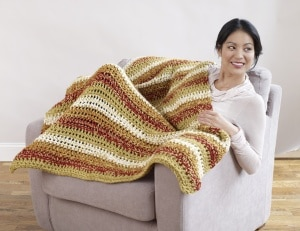 Tonal Tweed Blanket by Lion Brand Yarn