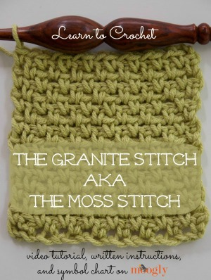 Tweed Stitch Tutorial by Moogly