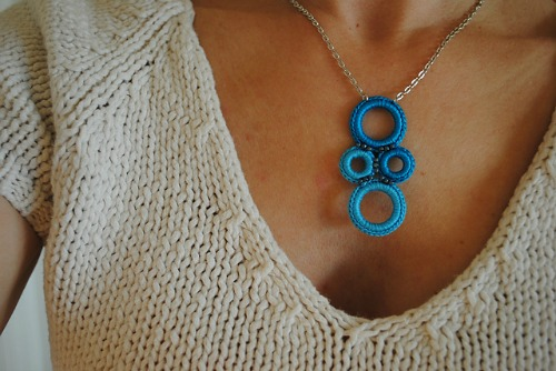 Crochet Ring Necklace