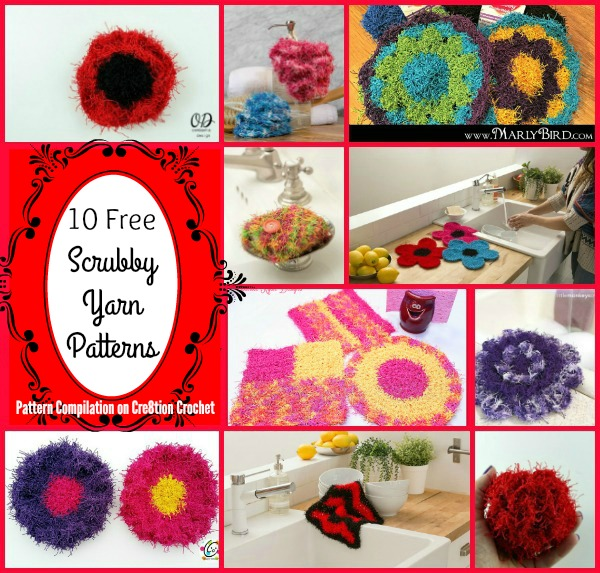 Scrubby Yarn is wonderful to use for personal spa sets and to create beautiful and decorative cloths for the kitchen.