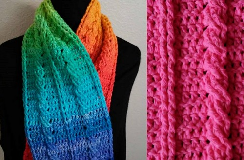 Cable Scarf or Blanket