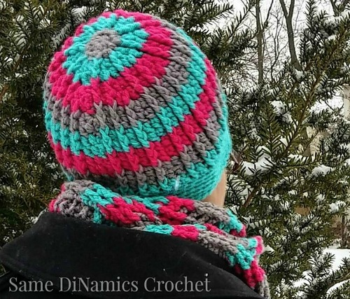Cables and Stripes Hat