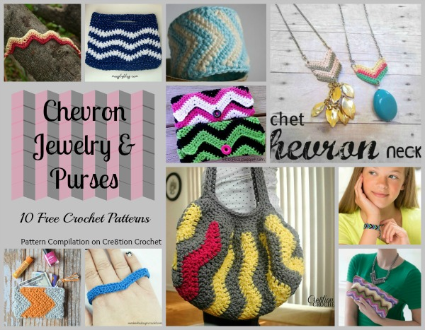 Chevron is a beautiful crochet technique that you can use to elevate your jewelry and purse style.
