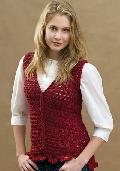Crochet Loop Cable Vest