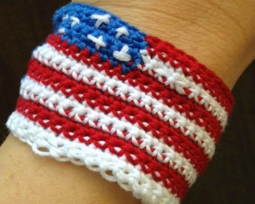 Freedom Wristband Free Crochet Pattern