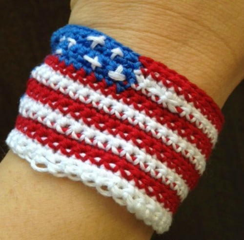 This Freedom Wristband is a great accessory to help celebrate the 4th of July and show your patriotism.
