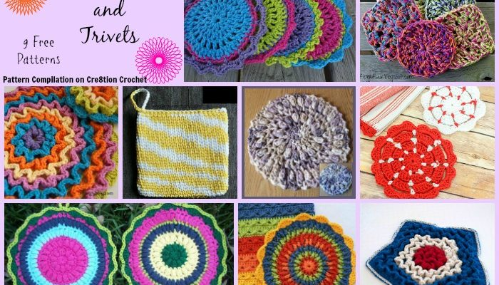 Potholders and Trivets Pattern Compilation