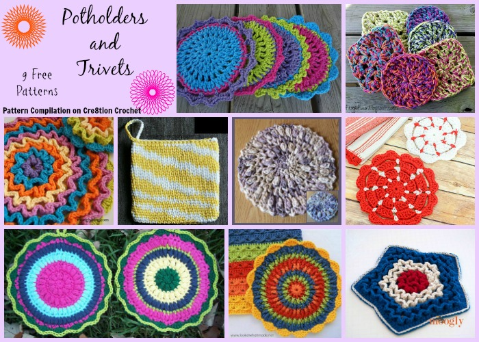 Potholders And Trivets Pattern Compilation Cre8tion Crochet