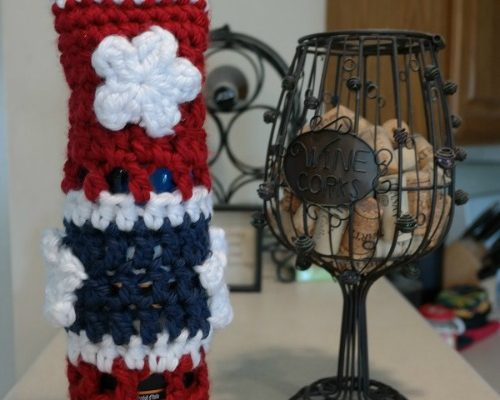 Star Spangled Wine Tote Free Crochet Pattern