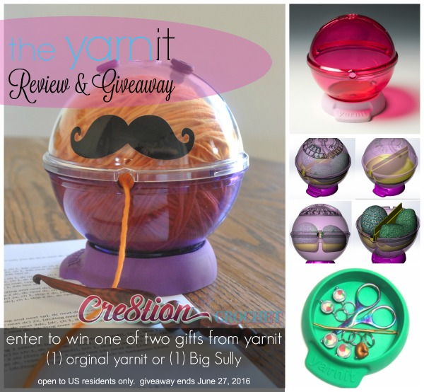 the yarnit review and giveaway, hosted by Cre8tion Crochet.