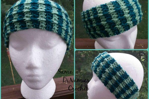 Cascading Cables Headband Free Crochet Pattern