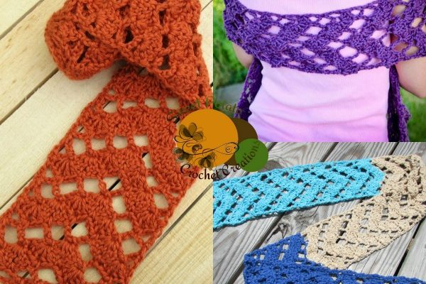 Caution to the Wind Scarf Free Crochet Pattern
