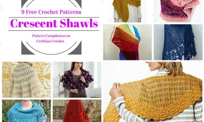 Crescent Shawls Pattern Compilations