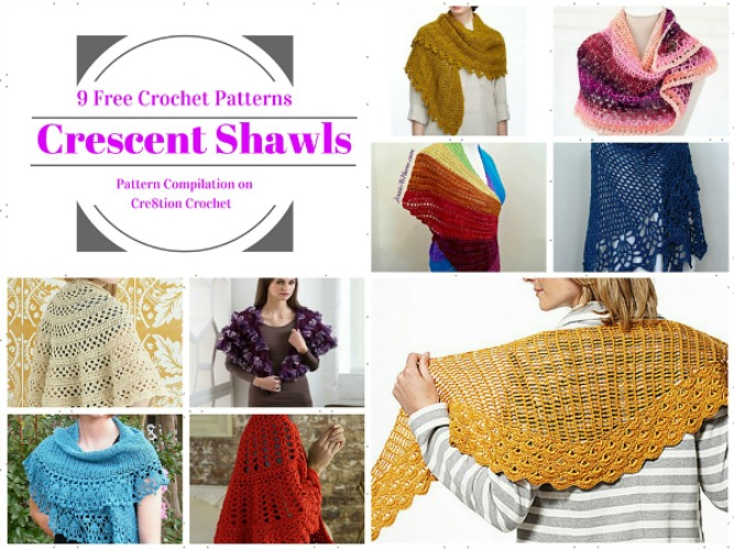 The beautiful Crescent Shawl is a versatile and gorgeous shawl that you can customize in length and stitch combination.
