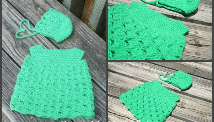 Lacy Clover Infant Dress Free Crochet Pattern