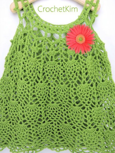 Pineapple Cascade Baby Dress