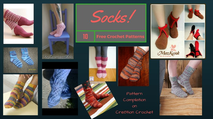 Socks are comfortable all year round! You can crochet your very own in your favorite colors and style.