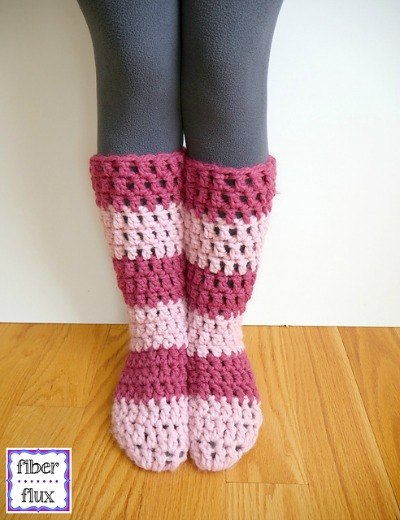 Strawberry Blossom Slipper Socks