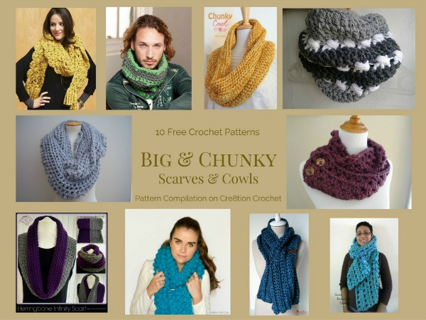 The scarves and cowls in this Big and Chunky pattern compilation will keep you very warm this coming winter. They are also trendy and stylish and will have folks wanting one just like yours.