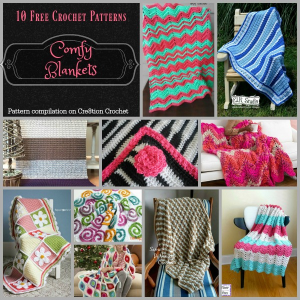 Comfy Blankets Pattern Compilation Cre8tion Crochet