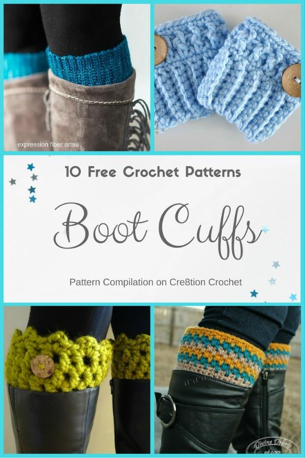 Beautiful Boot Cuffs Pattern Compilation Cre8tion Crochet