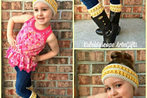 Persephone Ear Warmer and Boot Cuffs Free Crochet Pattern