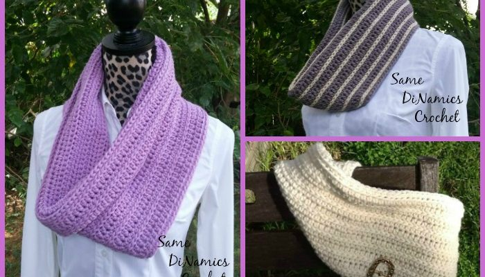 Winter Lilac Cowl Free Crochet Pattern