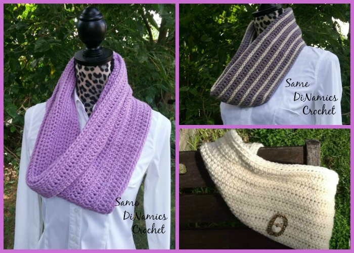 "This Winter Lilac Cowl will keep your neck warm, comfortable and stylish this coming winter. You can make yours in more than one color to make the ""V"" sideways stitch stand out more."