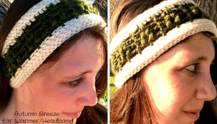 Autumn Breeze Ear Warmer Headband Free Crochet Pattern