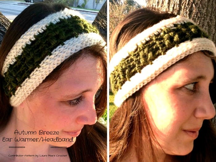 Autumn Breeze Ear Warmer Headband Free Crochet Pattern Cre8tion