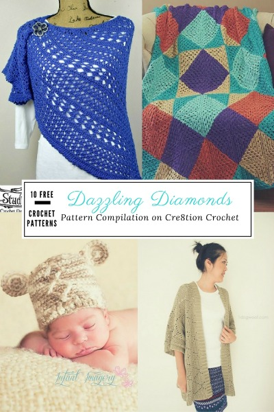 Incorporating diamonds into your crochet design will have folks talking. It's such a versatile design that can be made with most stitch combinations.