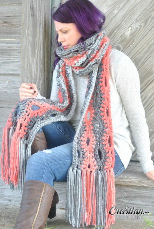Super Scarves are wildly popular for this Fall and Winter Season. A Poppy in the Storm looks great in one color, two colors, or more. There are no limits when it comes to this super scarf.