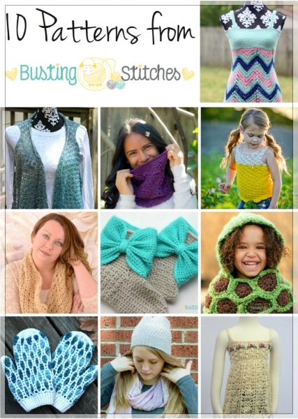 Do you follow Busting Stitches?  If you haven't yet, here's your chance to get to know a little bit about the owner of Busting Stitches, Stacey, AND get a bunch of amazing patterns.