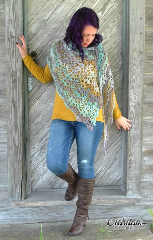 Calypso Shawl designed by Cre8tion Crochet