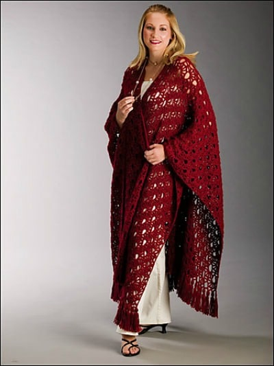 Comfortable Ruana Wrap Pattern Collection Cre8tion Crochet