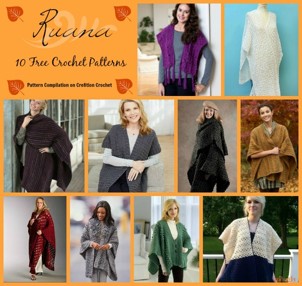 Comfortable Ruana Wrap Pattern Collection Cre60tion Crochet Classy Crochet Ruana Pattern