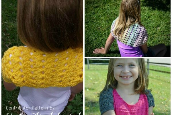 Swirling Leaves Shrug Free Crochet Pattern