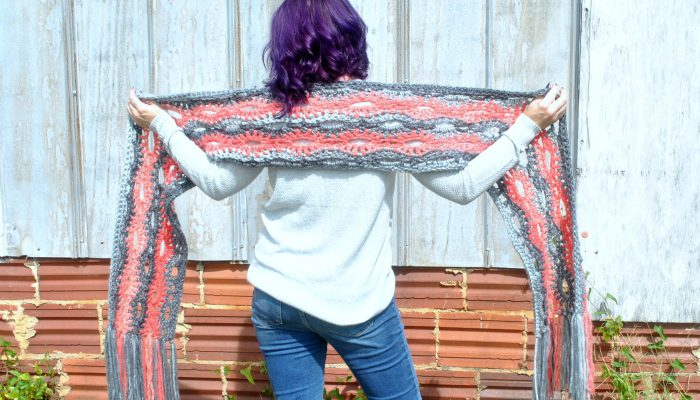 Super Scarf- A Poppy in the Storm by Cre8tion Crochet